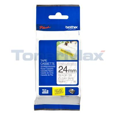 BROTHER TZ TAPE BLACK ON CLEAR 24 MM X 8 M
